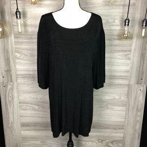 Vikki Vi Black Shirt Size 4X
